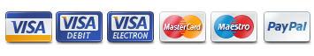 We now accept PayPal and Mastercard, Maestro and Visa